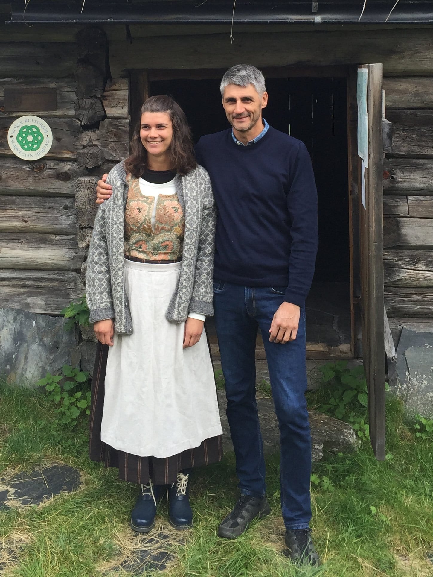 Owner of the farm, Per Oluf Solbraa, and his daughter, Anne Solbraa